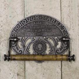 'Crown' Kitchen Roll Holder in an Antique Iron