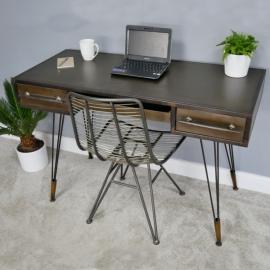 """""""Erlend"""" Industrial-Style Metal Desk in Situ"""