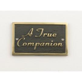 A True Companion Memorial Plaque