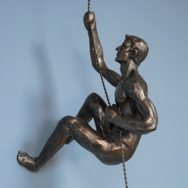 Side View of the Abseiling Man