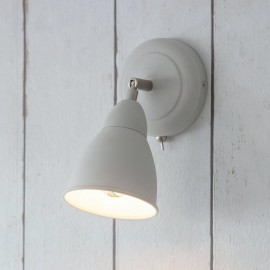 Adjustable Steel Wall Light in a Chalk White Finish