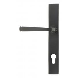 Aged Bronze Slimline Lever Espag Door Handle Front