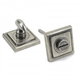 Aged Pewter Concealed Square Thumbturn Set with Plain Cover