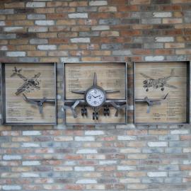 Airplane Diagram Wall Clock in Situ
