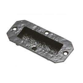 Antique Black Iron Flush Fitting Drawer Pull Handle