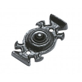 Antique Black Iron Gothic Style Front Door Bell Push