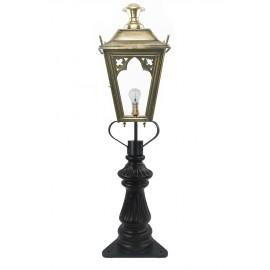Antique Brass Gothic Fluted Patio & Driveway Light 103cm