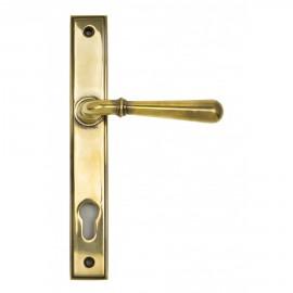 """""""Emerson"""" Antique Brass Slim Line Door Handle"""