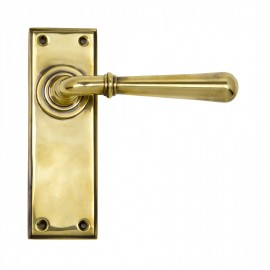 """Emerson"" Antique Brass Sprung Lever Handles"