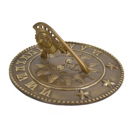 Antique Brass 'Sunshine & Starlight' Sundial - 225mm