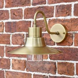 """Albrighton"" Antique Brass Traditional Barn Wall Light"