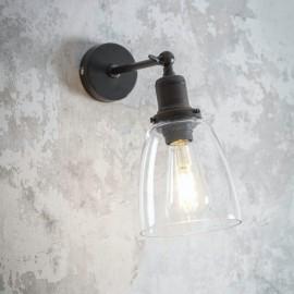 Steel Adjustable Wall Light in Antique Bronze