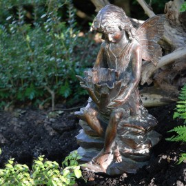 Antique Bronze Woodland Fairy Sculpture