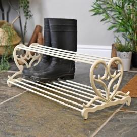 Antique Cream love Heart Shoe Stand