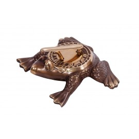 Antique Brass 'Frog Prince' Sundial - 200mm