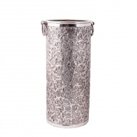 """""""Montania Manor"""" Umbrella Stand in an Antique Nickel Finish"""