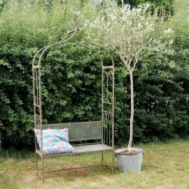Traditional Arbour Bench Finished in an Antique Rustic Blue