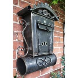 """Aubrey End"" Gothic Post Box And Newspaper Holder"