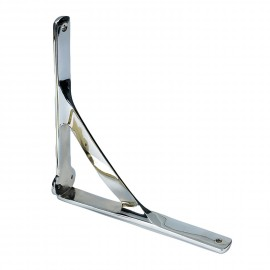 Stylish Gallows Bracket Finished in a Bright Chrome