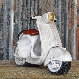 Painted Stone Scooter Garden Ornament