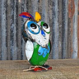 Multi Coloured owl Sculpture