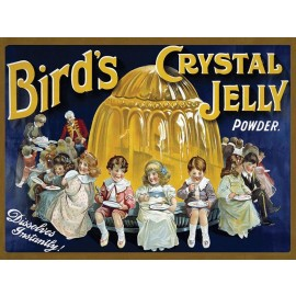 """Traditional """"Bird's Crystal Jelly Powder"""" Metal Sign"""