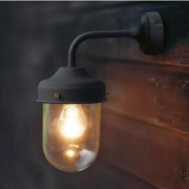 Black Modern Wall Mounted Barn Light in Situ