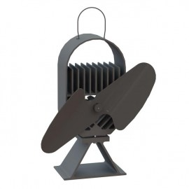 """""""Air Deco"""" Eco Wood Stove Fan in Black"""