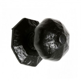 Black Cast Iron Octagonal Centre Door Knob