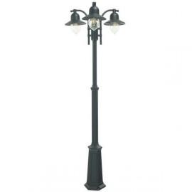 Black Coach House Triple Head Lamp Post