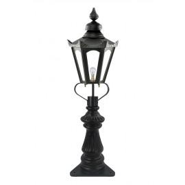 Black Concordia Fluted Patio & Driveway Light 103cm