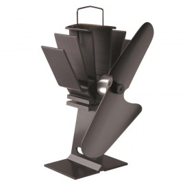 Eco Wood Stove Fan Finished in Black