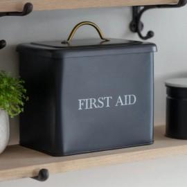 Black Steel First Aid Box