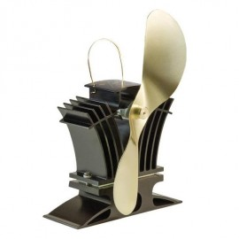 """""""BelAir"""" Eco Wood Stove Fan in Black & Gold"""