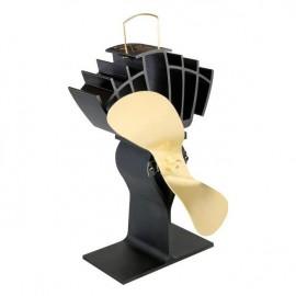"""UltrAir"" Eco Wood Stove Fan in Black & Gold"