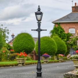 Black Harrogate Lamp Post Set in Situ