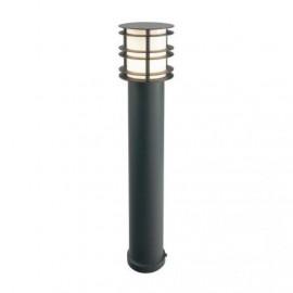 Heavy Duty Steel Bollard Light Finished in Black