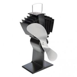 """Air Max"" Eco Wood Stove Fan in Black & Nickel"