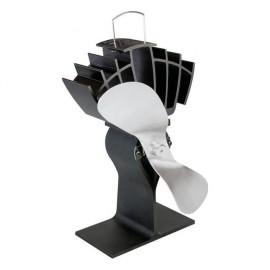 """""""UltrAir"""" Eco Wood Stove Fan in Black & Nickel"""