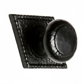 Black Ornate Diamond Iron Door Knobs