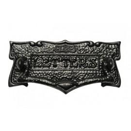 Black Patterened Letter Plate With Knocker