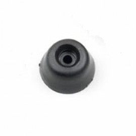 Black Round Toilet Seat Buffers - Pack of 6