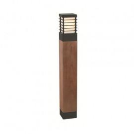 """Skyline"" Black Steel and Scandinavian Wood Bollard Light- 85cm"