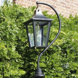 Black Swan Neck Lantern 84cm