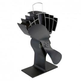 """UltrAir"" Eco Wood Stove Fan in Black"