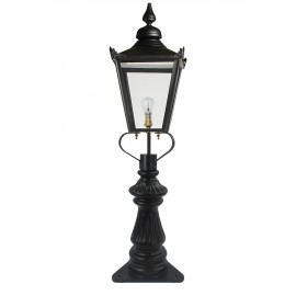 Black Victorian Fluted Patio & Driveway Light 103cm