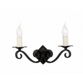 """""""Thatchdale Estate"""" Blacksmith Ornate Candle Wall Light"""