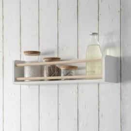 Wooden Wall Shelf & Bottle Holder