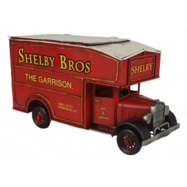 Red Vintage Van Storage Box