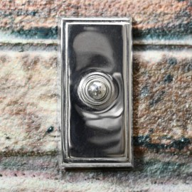 Rectangle simplistic door bell with push button